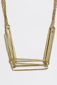 Stacked Rectangle Necklace 105.00 USD