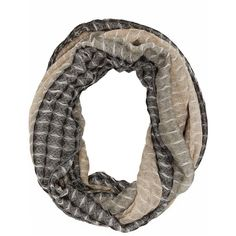 Charlotte Russe Gray Combo Diamond Pleated Infinity Scarf by Charlotte... ($11) ❤ liked on Polyvore featuring accessories, scarves, gray combo, grey scarves, bohemian scarves, tube scarf, infinity scarves and grey shawl