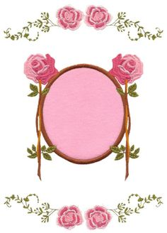Frame and Flowers Embroidery Design | AnnTheGran