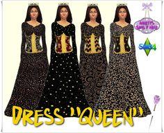 Queen dress at Annett's Sims 4 Welt via Sims 4 Updates