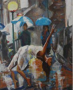 ArtDia / Joga v daždi Painting, Art, Art Background, Painting Art, Kunst, Paintings, Performing Arts, Painted Canvas, Drawings