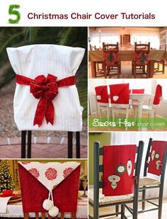 ebay uk christmas chair covers where can i buy a hanging 73 best images crafts 5 cover tutorials check out this blog post to see five terrific