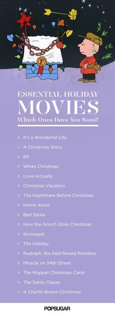 Essential Holiday Movies Checklist