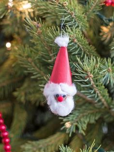 Perfect for the littlest crafters, this easy project uses materials you probably already have on hand. You and the kiddos can turn a bag of walnuts into a whole tree-full of everyone's favorite elf in no time flat.