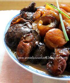Braised pig s trottle with mushroom Pork Recipes, Asian Recipes, Cooking Recipes, Chinese Recipes, Fish Recipes, Sea Cucumber Recipe, Abalone Recipe, Pig Feet Recipe, Cantonese Food