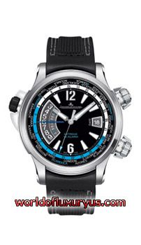 "JAEGER-LECOULTRE - MASTER COMPRESSOR EXTREME W-ALARM ""TIDES OF TIME"" - 177847T (TITANIUM / BLACK DIAL / CALFSKIN LEATHER)"