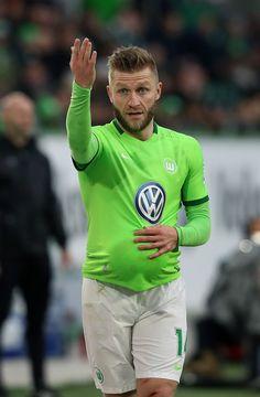 Jakub Kuba Blaszczykowski of Wolfsburg gestures during the Bundesliga match between VfL Wolfsburg and SV Darmstadt 98 at Volkswagen Arena on March 18, 2017 in Wolfsburg, Germany.