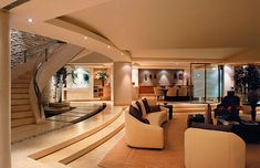 Find a home interior design living room with stairs In modern home design 2016…