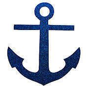 Glittered Anchor Cut Outs
