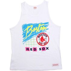 Mitchell and Ness Boston Red Sox Copy of Blank Tank Top in white. $29.99