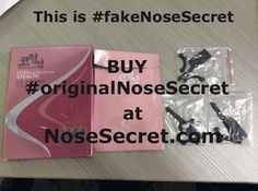 These are #Fake #Nosesecret products! Do NOT get knocked off! We are the #Original #Nosesecret and are made and shipped in the U.S.A.! We are also made of health grade materials, Please be careful and do NOT purchase these cheap imitations! #Nose #Nosesecret3d #Nosejob #Plasticsurgery #Beauty #Hack #Noselift #Petitenose #smallnose #slimnose