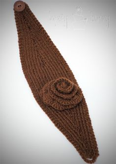 yarn knit ear warmer headband flower crochet by imtopsyturvy.com, via Flickr
