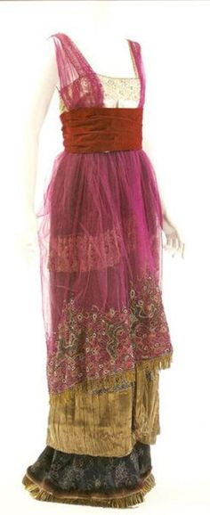Paul Poiret dress - just one of the beautiful creations of Poiret on this site.