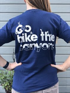 e4dd5b0f5 Vintage Grand Canyon National Park T-Shirt Blue Men's L Go Hike the Canyon