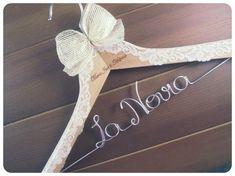 Diy Wedding Hangers, Bride Hanger, Wool Art, Wooden Hangers, Pre Wedding Photoshoot, Crafty Craft, Wedding Planner, Wedding Gifts, Diy And Crafts