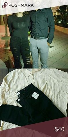 Skinny ripped denimm jeans Absolutely soft, gteat quality a must in your closet Jeans Skinny