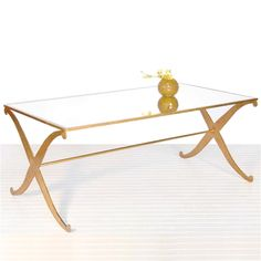 Worlds Away Klysmos Gold Leaf Coffee Table