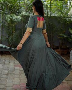 Shop salwar suits online for ladies from BIBA, W & more. Explore a range of anarkali, punjabi suits for party or for work. Kurti Back Neck Designs, Kurta Neck Design, Fancy Blouse Designs, Stylish Dress Designs, Blouse Neck Designs, Stylish Dresses, Indian Gowns Dresses, Indian Fashion Dresses, Indian Designer Outfits