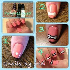 Bow nail art tutorial!