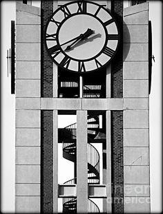 Rutgers Clock Tower - photograph by James Aiken Rutgers Clock Tower - Fine Art Prints and Posters for Sale james-aiken.artistwebsites.com #rutgersuniversity #clocktower #spiralstaircases