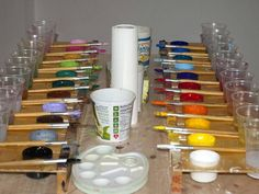 Malen macht das Leben bunter - Malfreude Bunt, Palette, Day Care, Joy, Palette Table