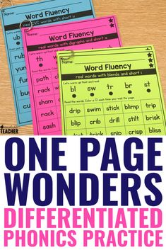 Phonics Drills Word Reading Fluency -Growing- BUNDLEYou can find Reading intervention and more on our website. Kindergarten Reading, Teaching Reading, Guided Reading, Teaching Art, Preschool Kindergarten, Learning, Teaching Phonics, Phonics Activities, Jolly Phonics