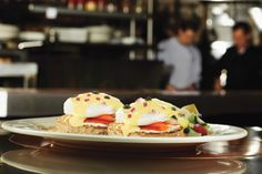 Eggs benedict prepared more than 10 ways, grilled chicken and spinach enveloped by fresh-made crepes, and half-pound USDA Choice burgers Montreal Qc, Brunch Table, Restaurant, American Food, Cafe Bar, Lunches And Dinners, Grilled Chicken, Family Meals, Health Fitness