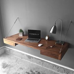 """25 curtidas, 3 comentários - Formolly Workspace (@formolly_workspace) no Instagram: """"Check out our popular Walnut floating desk with some sleek storage! Free shipping on all orders…"""""""
