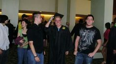 Chris with friends at Graduation