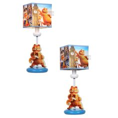 cartoon garfield desk lamp cute child study beside bedroom table lamps light - Bedroom Table Lamps