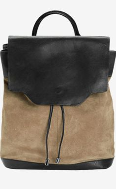suede and leather backpack