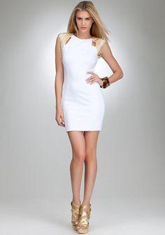 bebe | Stud Shoulder Dress - bebe Addiction - Cocktail Dresses
