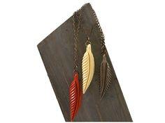 boho chic feather necklace #artdeco #jewelry #handmade