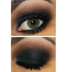 Passo a passo de um olho preto esfumado pra noite! « Que Beleza!