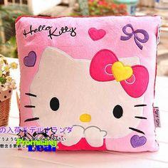 Hello Kitty Plush Square Cushions Nap Pillow Pink