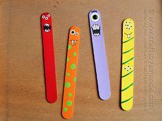 Los palitos, son un recurso que hoy en día es muy utilizado, los alumnos pueden decorarlos y utilizarlos por ejemplo para marcar las páginas en un libro, o simplemente como marioneta.