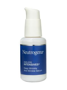 NEUTROGENA AGELESS INTENSIVES ANTI-WRINKLE SERUM  One of a handful of drugstore brands with a formulation of antioxidants that rivals more expensive products, this serum with retinol is good for nightly use.