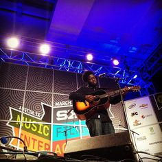 Michael Kiwanuka mesmerizes the crowd at the #KCRW day showcase.