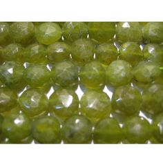 Green Garnet Faceted Beads Coin Beads 8mm Beads 5 by gemsforjewels, $21.75