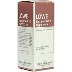 LOEWE KOMPLEX Nr. 4 Hypericum Tropfen:   Packungsinhalt: 50 ml Tropfen PZN: 01674002 Hersteller: Infirmarius GmbH Preis: 8,64 EUR inkl.…