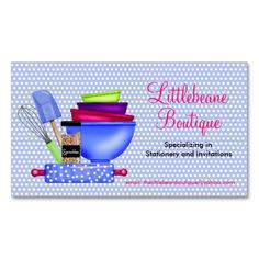 Kitchen Supplies Business Calling Cards Business Card. This great business card design is available for customization. All text style, colors, sizes can be modified to fit your needs. Just click the image to learn more!