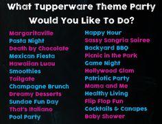 Tupperware Theme Party Ideas