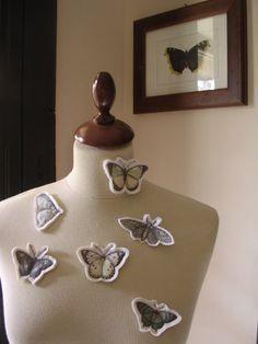Spring Butterfly Brooch by TheButterfliesShop on Etsy, $12.50