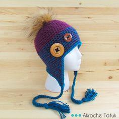 Crochet hat pattern  Patron tuque au crochet