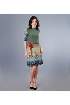 Rochie YOKKO captusita din jerse elastic imprimat. #yokko #rochii Waist Skirt, High Waisted Skirt, Floral, Skirts, Fashion, Moda, High Waist Skirt, Fashion Styles, Skirt
