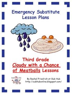 """Read book CLOUDY WITH A CHANCE OF MEATBALLS as an introduction to a """"Weather"""" theme."""