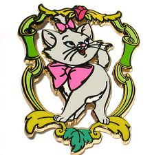 NEW✿LE✿Disney Auctions Pin✿Marie in Baroque Frame✿Aristocats✿Kitten✿Cat✿Pink Bow