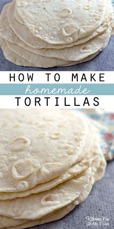 How To Make Homemade Tortillas – It's so EASY and Much Better than Store Bought Homemade flour tortillas are so delicious! Once you eat freshly made flour tortillas made at home, you'll never want to go back. Home Made Tortillas Recipe, Easy Tortilla Recipe, Recipes With Flour Tortillas, Fresh Tortillas, How To Make Tortillas, Homemade Flour Tortillas, Tortilla Bread, Mexican Dishes, Mexican Food Recipes