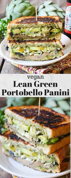 #Vegan Lean Green Portobello Panini from @FettleVegan