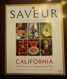 SAVEUR Number 51 May/ June   2001: California the Food Lover's Ultimate Road Trip by Coleman, Contributes Andrews,http://www.amazon.com/dp/B00114PPFY/ref=cm_sw_r_pi_dp_4mJPsb1SDTY3YQ0X $8.95